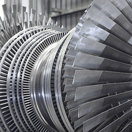 Rotor of a steam turbine cleaning machine